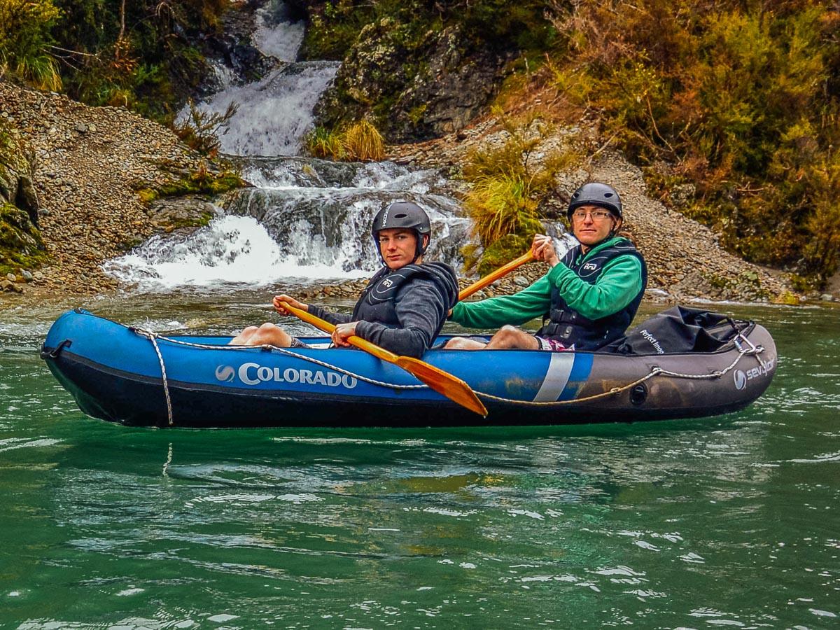 Couple kayaking the Pelorus river