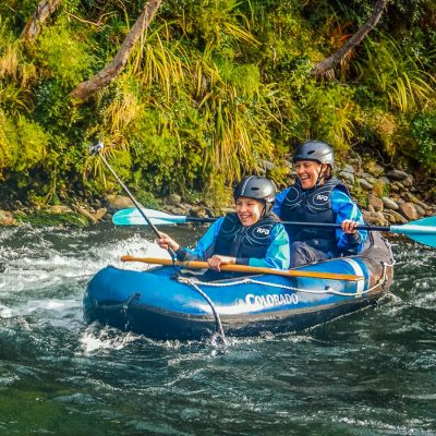 Happy Kayakers at the Pelorus river