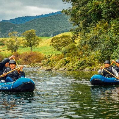 Kayaking the Pelorus river in NZ
