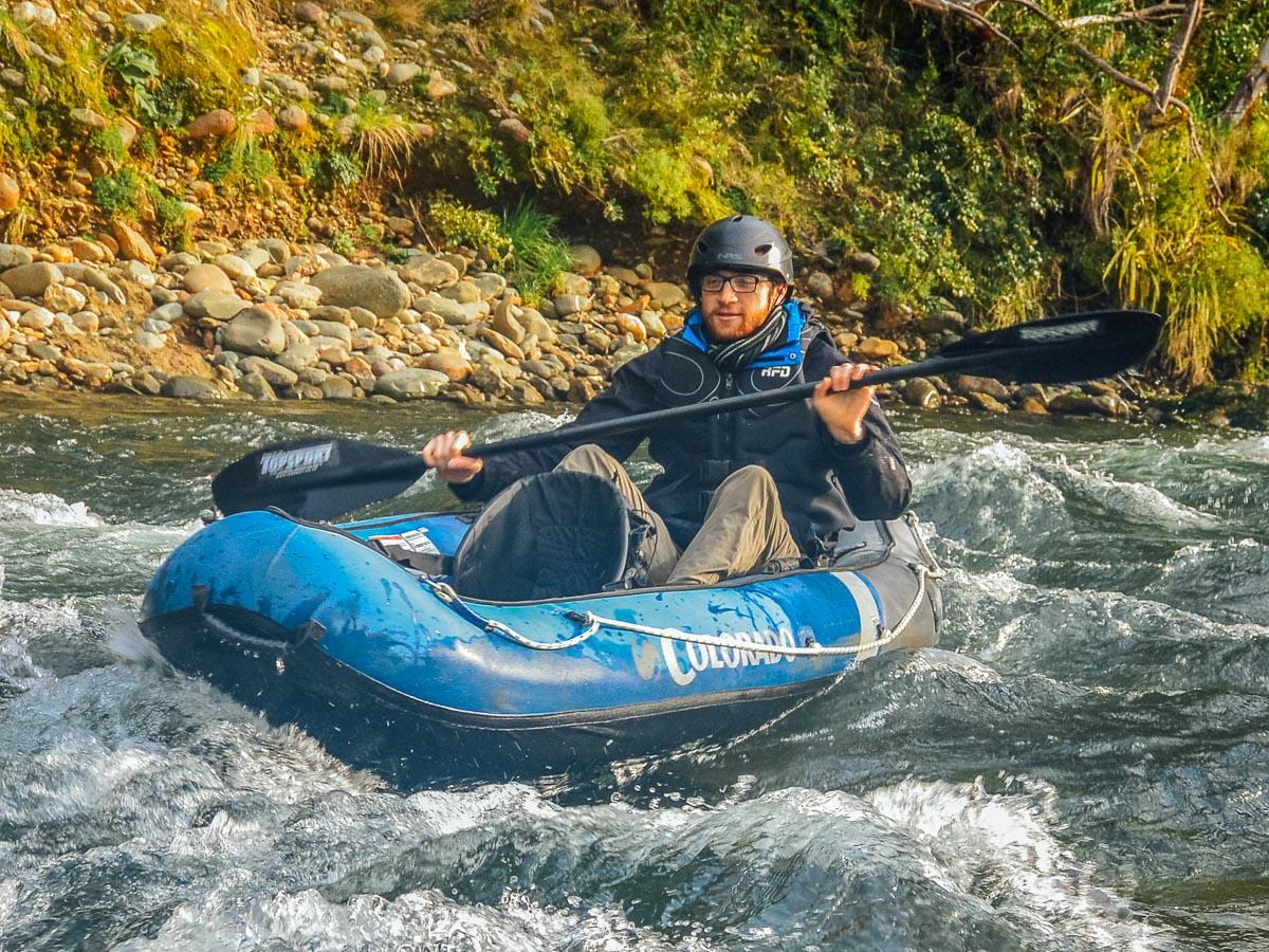 Kayaking rapids at the Pelorus river