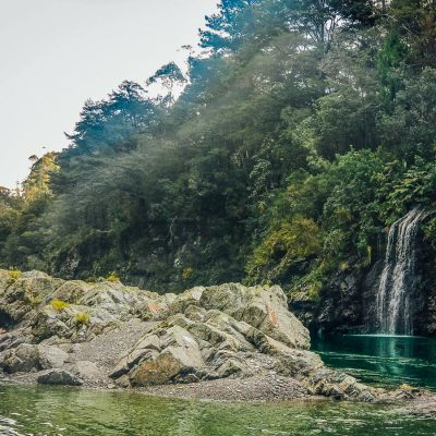Pelorus river falls in New Zealand