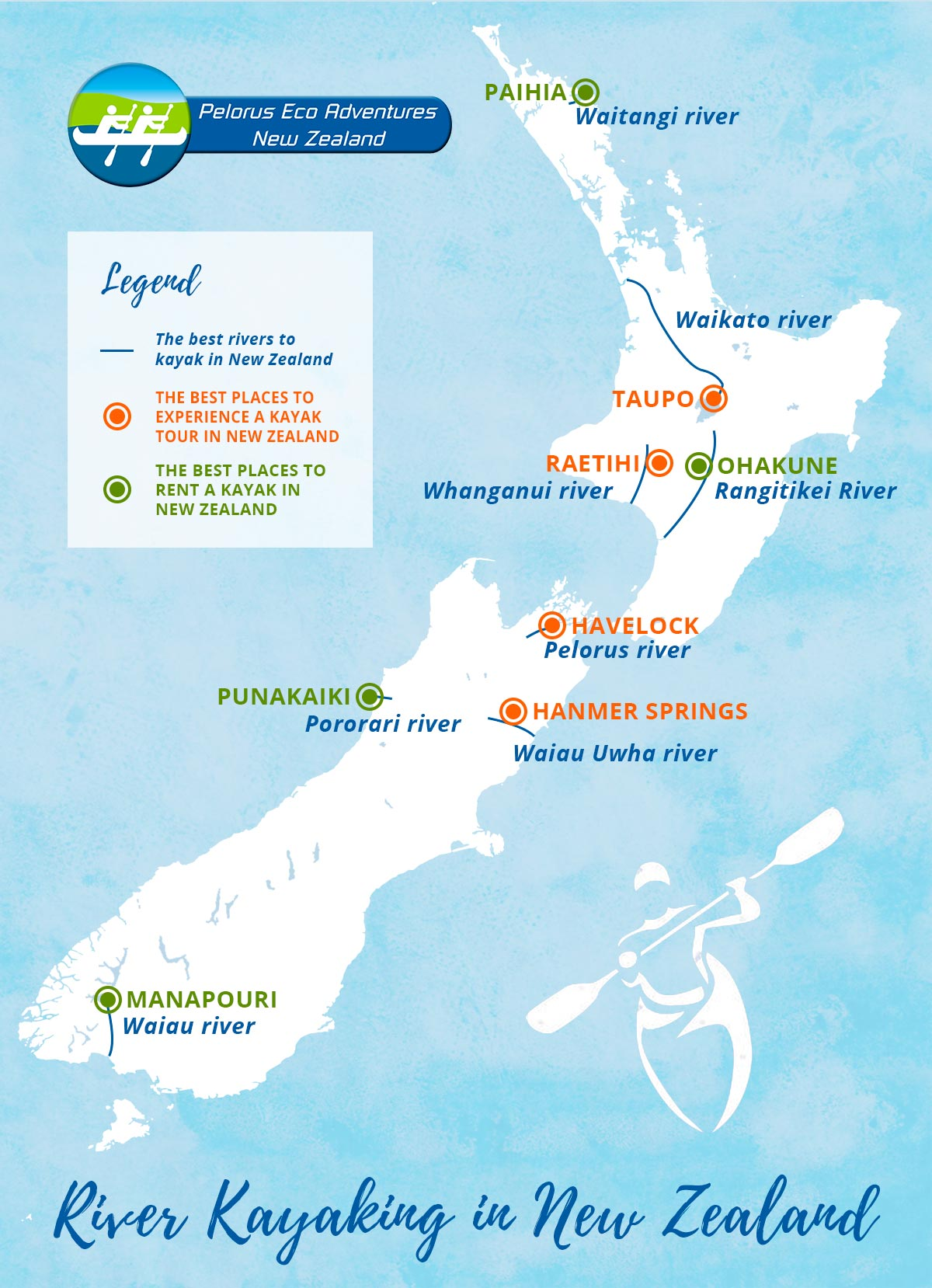 River Kayaking New Zealand Map