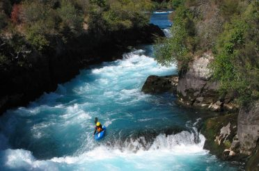 River kayaking in New Zealand
