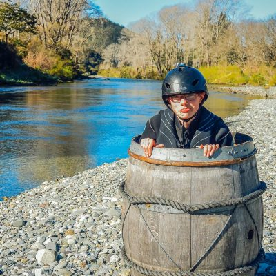 Barrel Picture at the Pelorus river