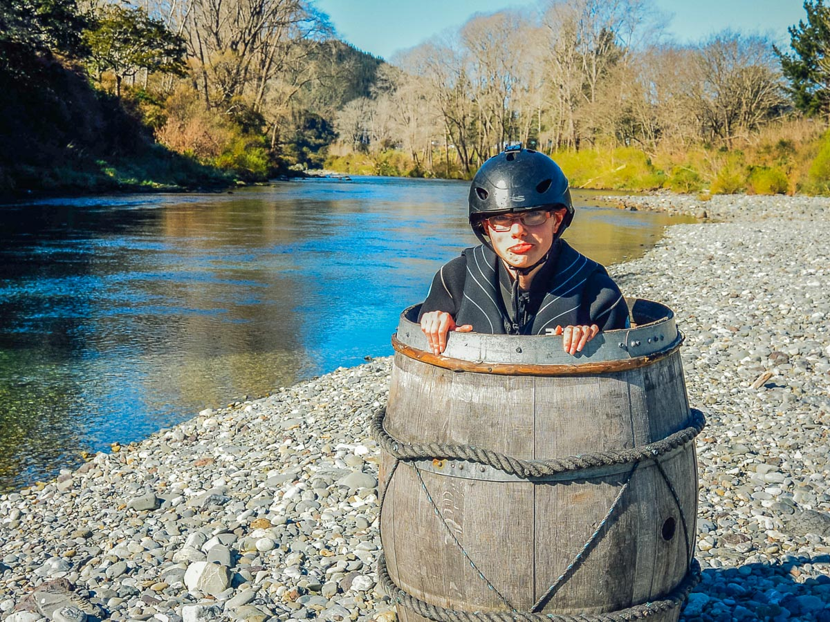 Barrel Picture at the Pelorus river