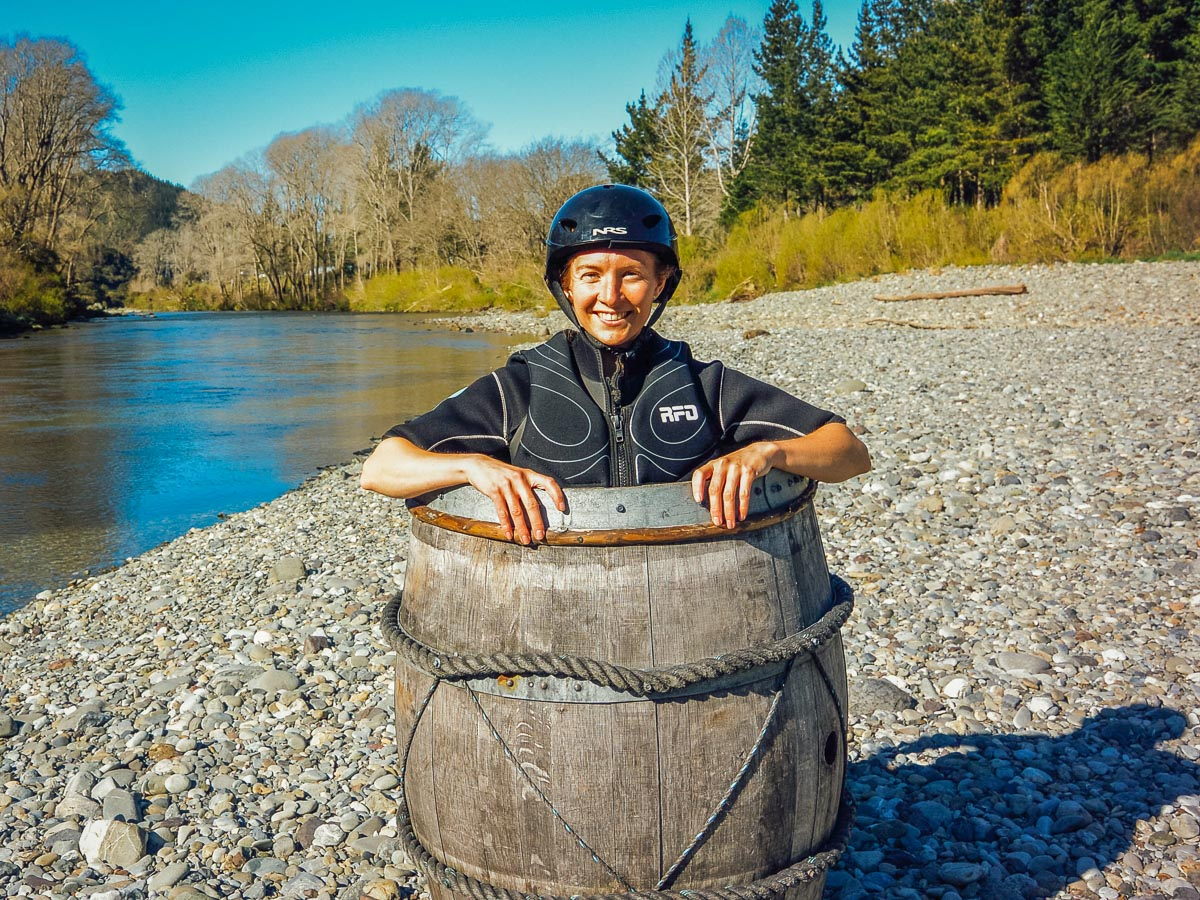 Barrel run picture at the Pelorus river