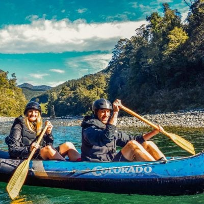 Couple at the beautiful Pelorus river