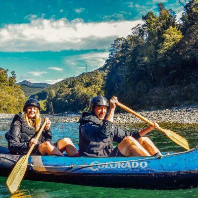 Couple at the beautiful Pelorus river