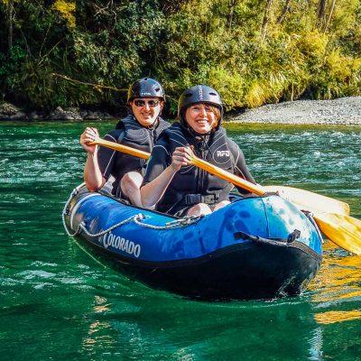 Couple experiencing our Hobbit Kayak Tour