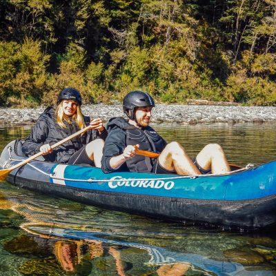 Couple kayaking in Marlborough