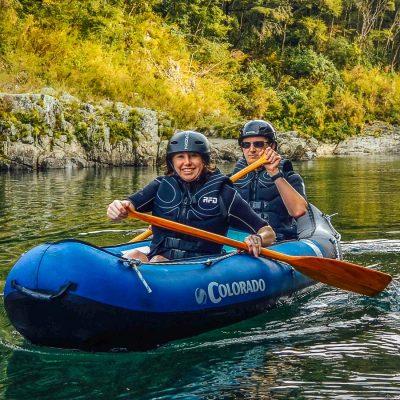 Couple kayaking in NZ