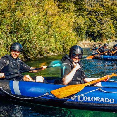 Couple kayaking at Pelorus river