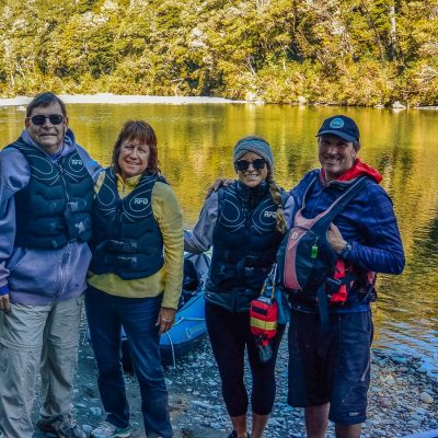 Group at the Pelorus river