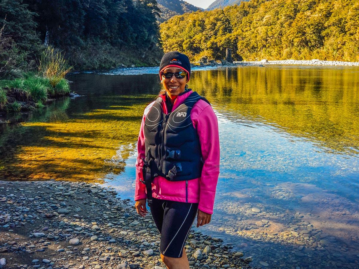Kayaker at the Pelorus river, NZ