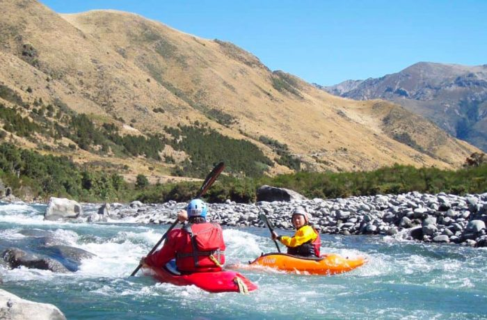White water rafting and kayaking in New Zealand's South Island