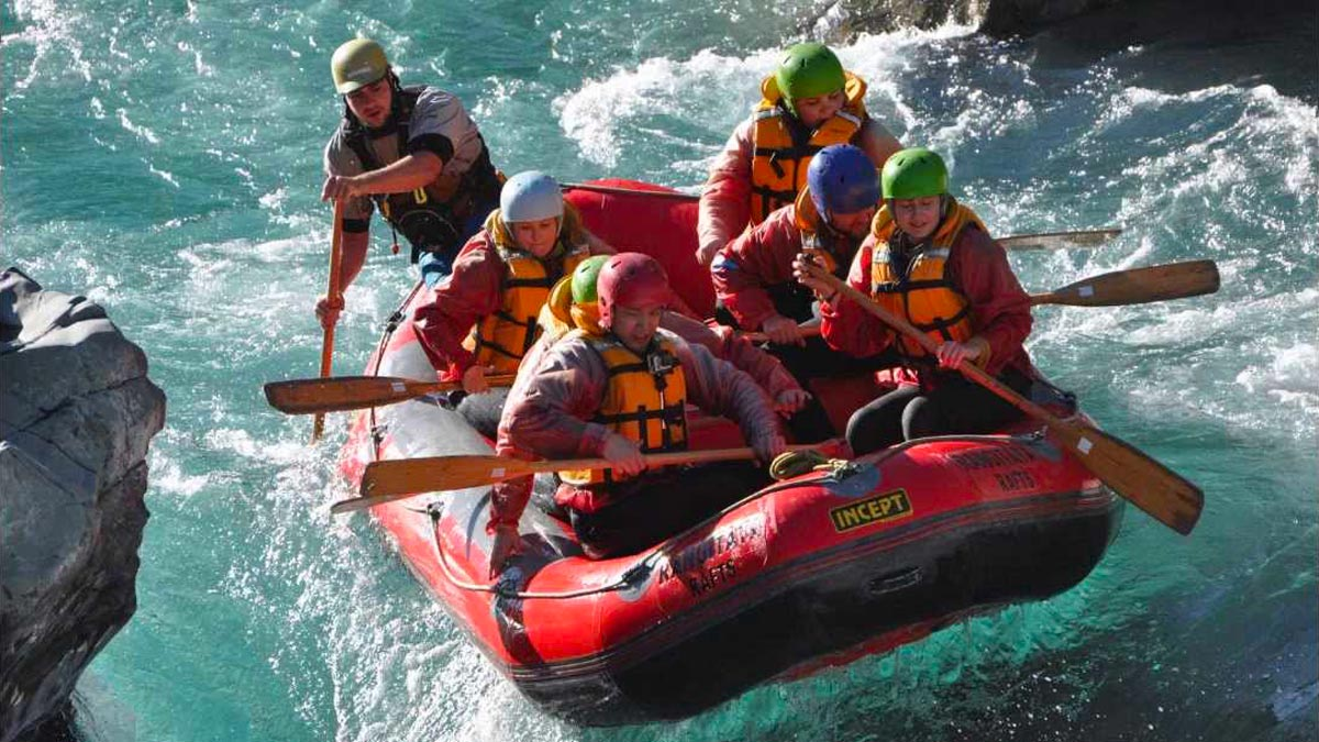Whitewater Rafting on Rangitata River, New Zealand