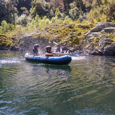 Fun at the Pelorus river, New Zealand