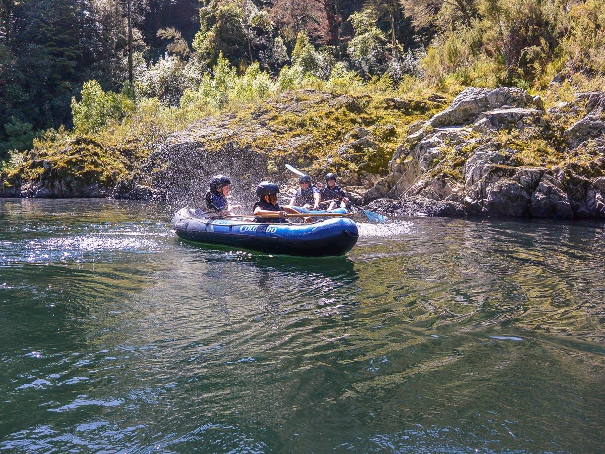 Fun at the Pelorus river, New Zealand