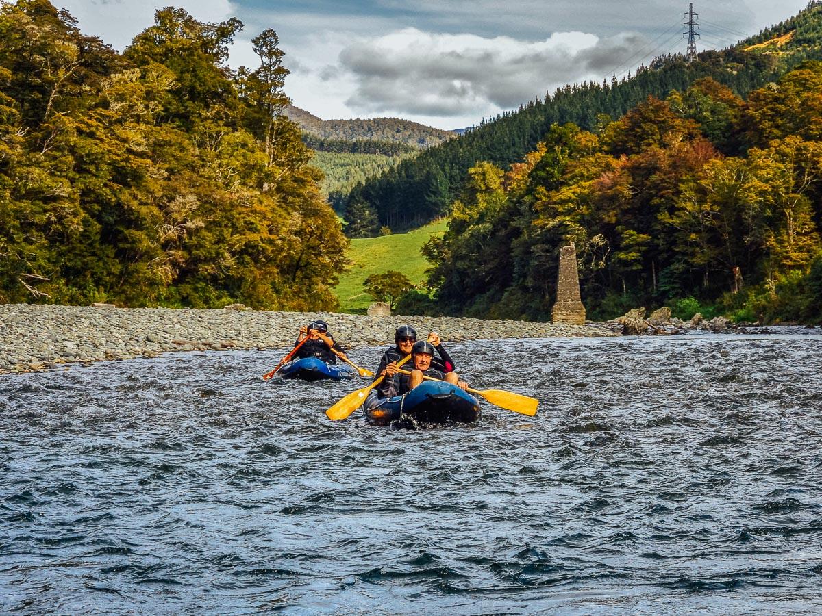Kayaking the Pelorus river, New Zealand