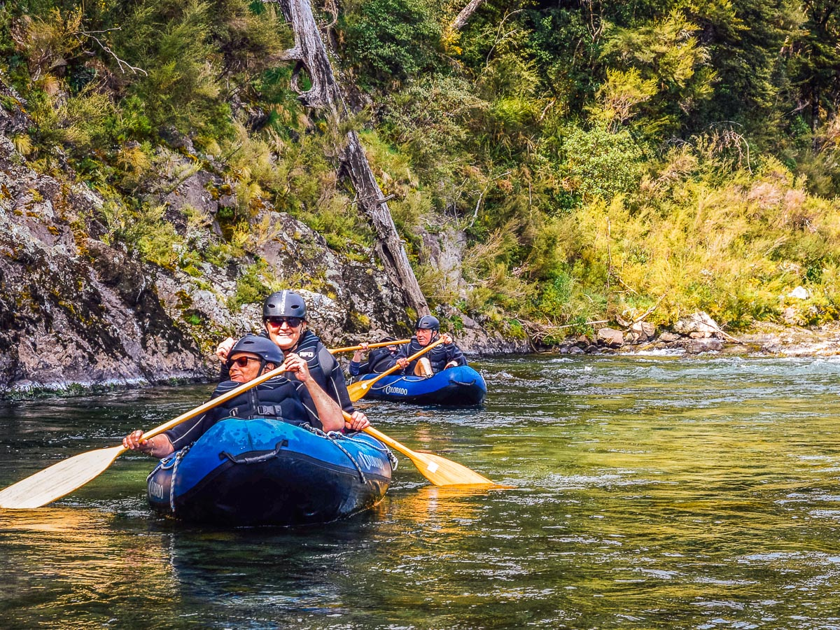 Kayaking tour at the Pelorus river, NZ