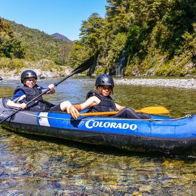 Kids at the Pelorus river, Marlborough NZ
