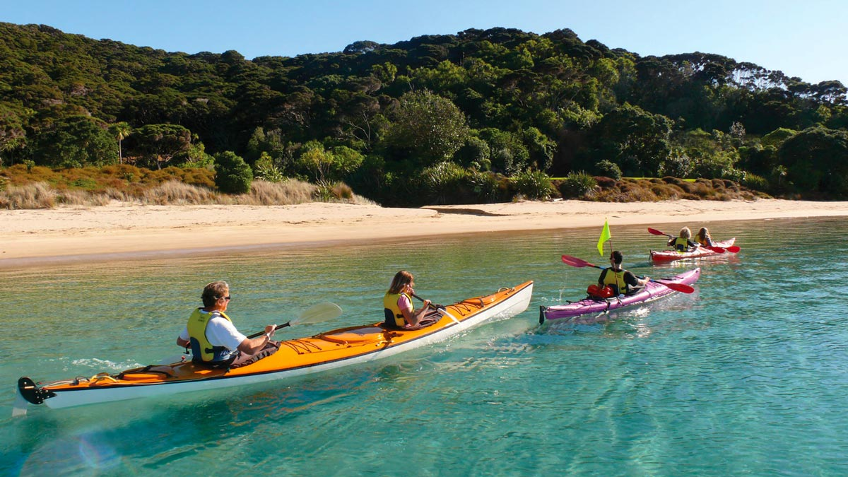 Sea Kayaking Bay of Islands New Zealand