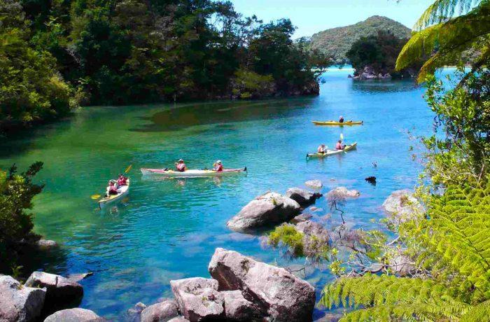Sea kayaking in New Zealand