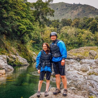 Couple above the Pelorus river, NZ