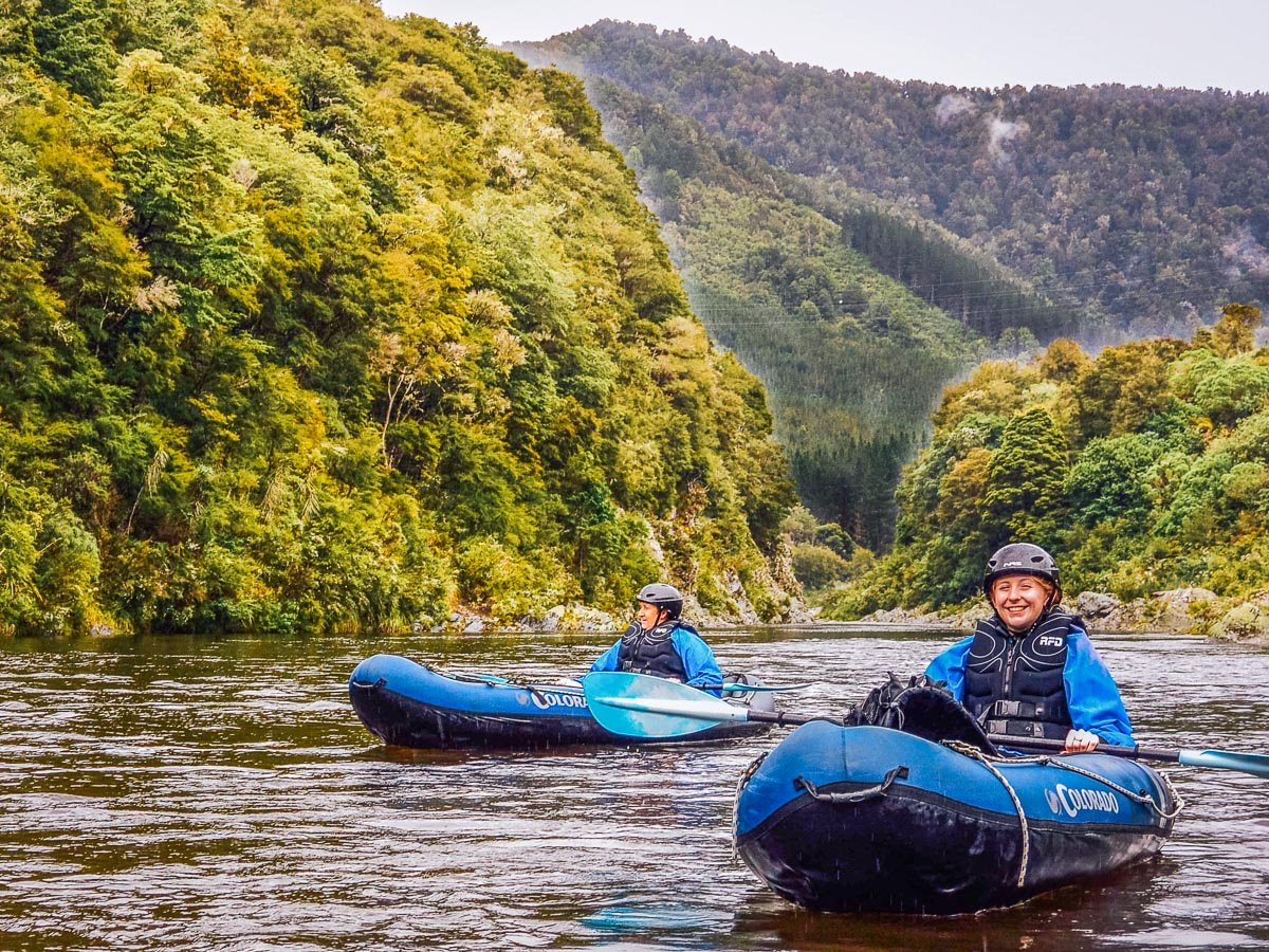 Couple kayaking in NZ