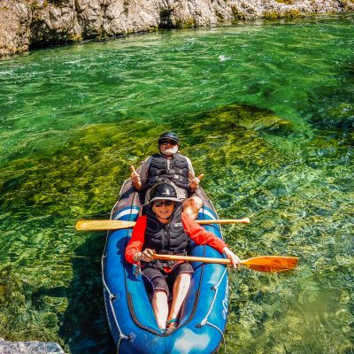 Couple kayaking on the Pelorus river
