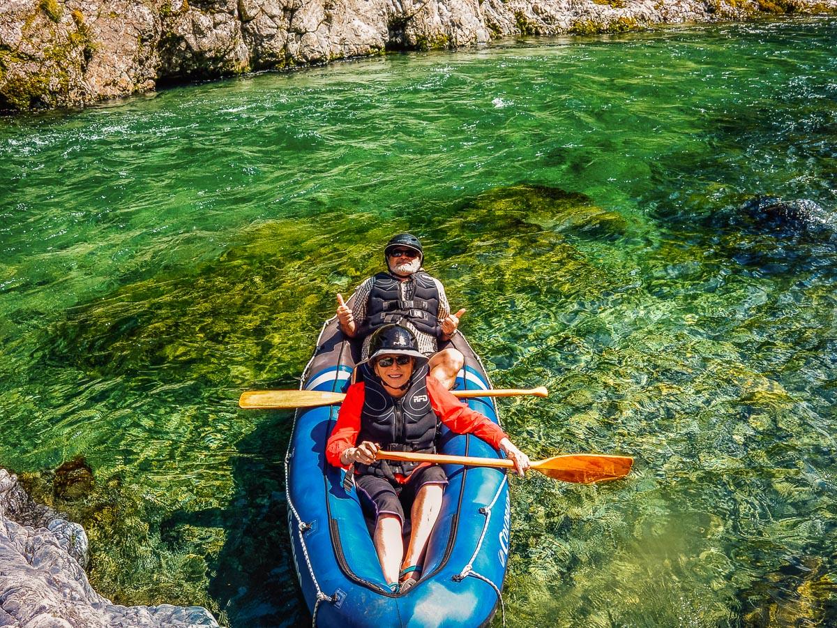 Couple kayaking on the Pelorus river