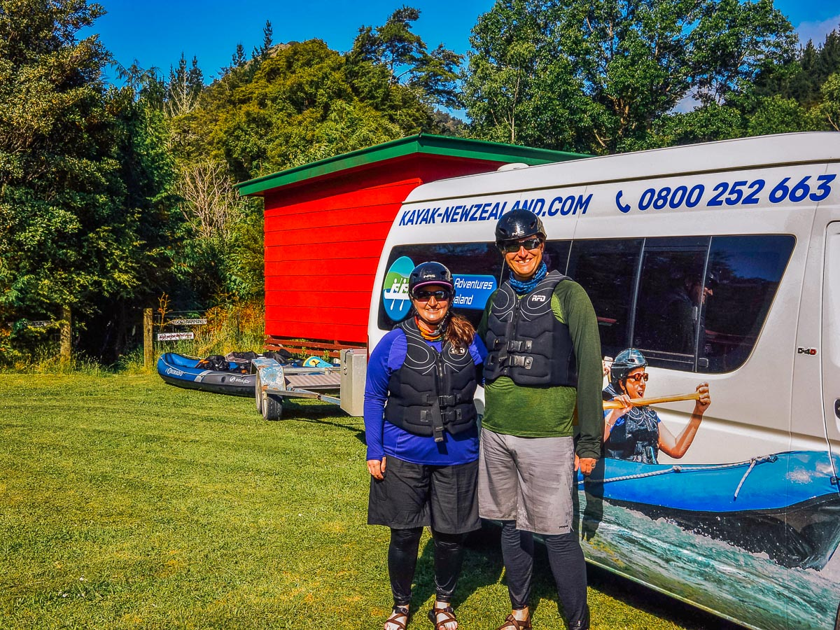 Couple with Pelorus eco adventures van