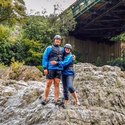 Couple at the Pelorus river in Marlborough