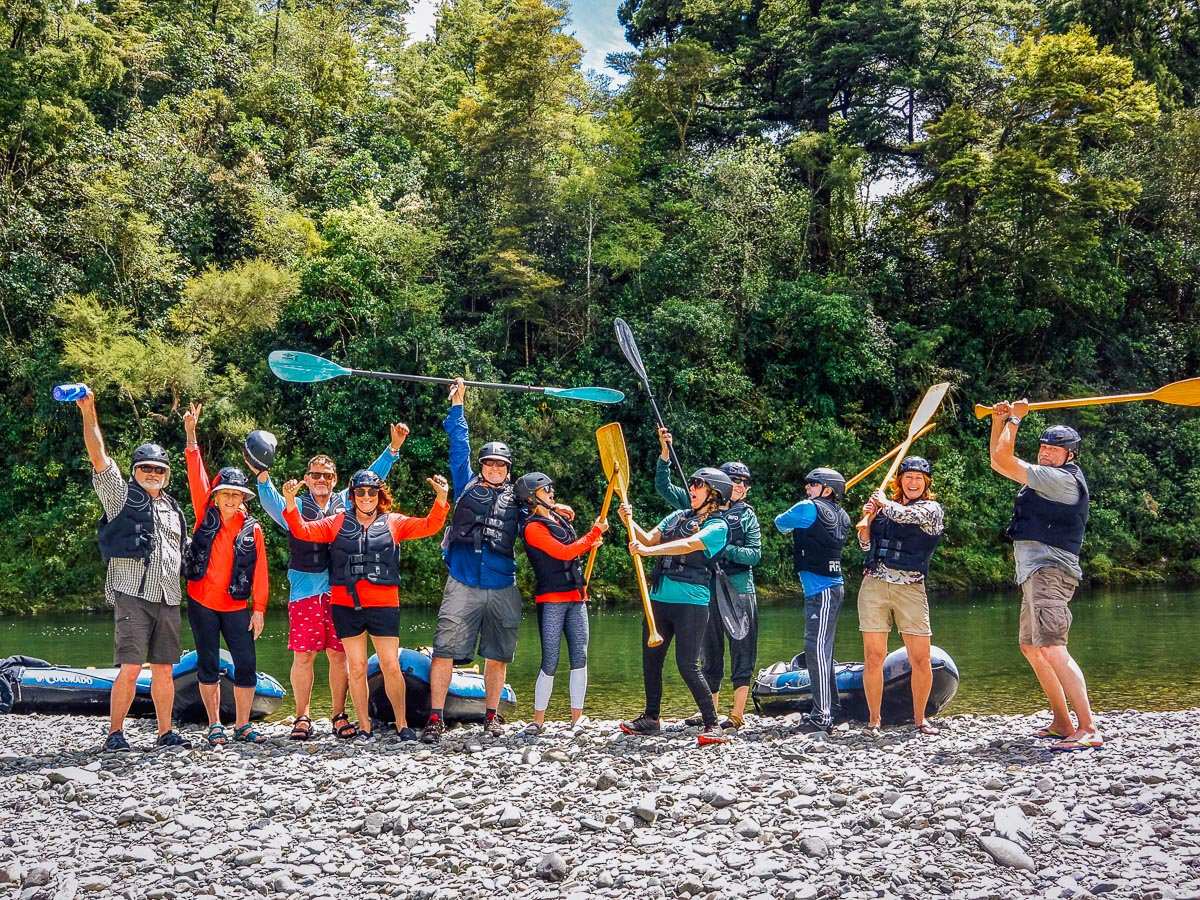 Happy group at the Pelorus river