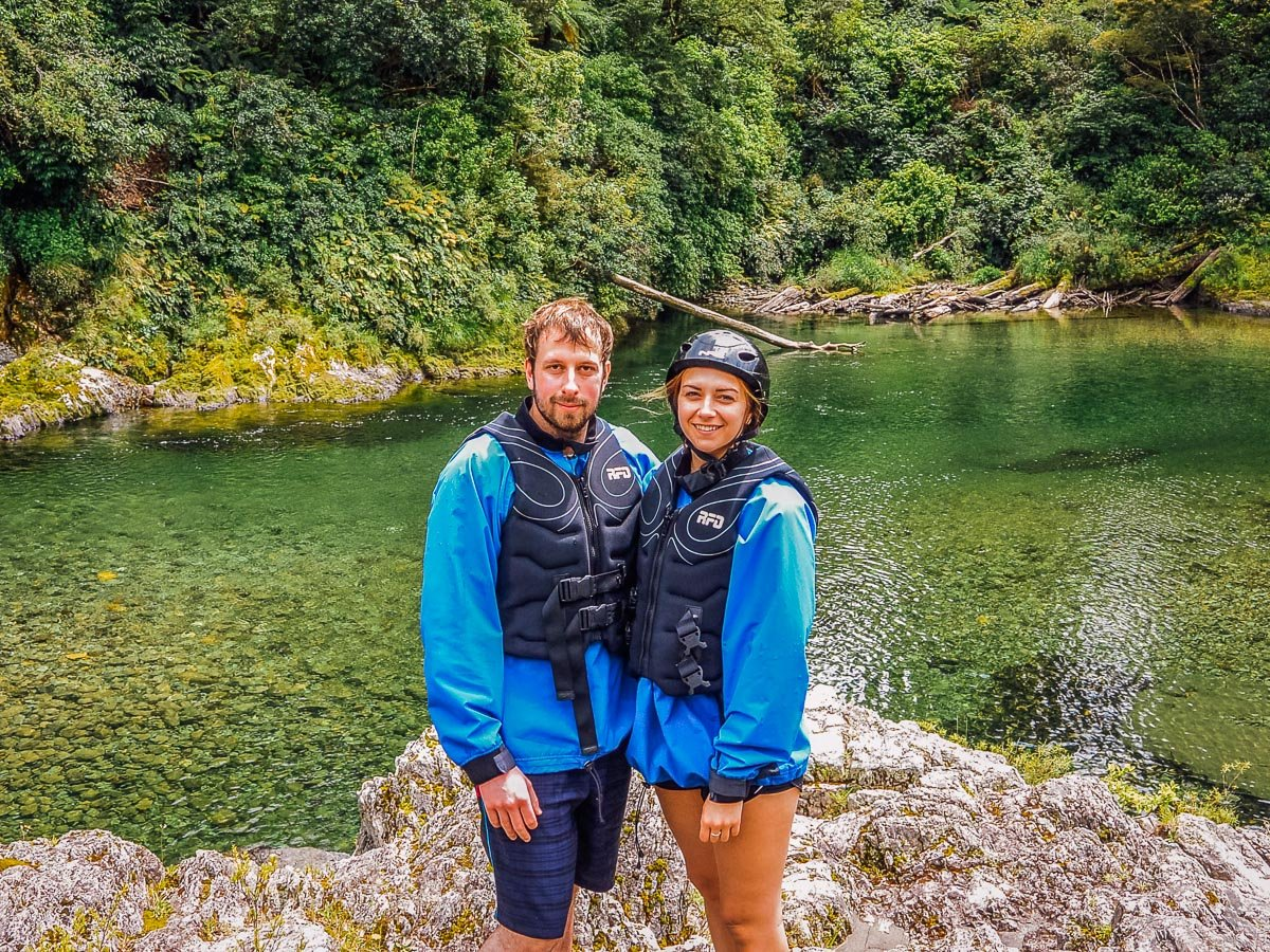 Couple at the Pelorus river, NZ