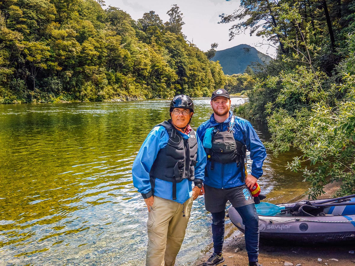 Friends at the Pelorus river, New Zealand
