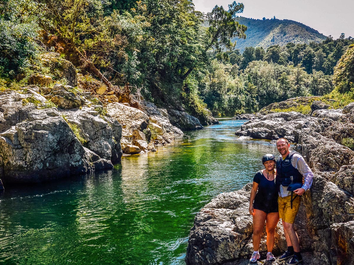 Happy couple at the Pelorus river, NZ
