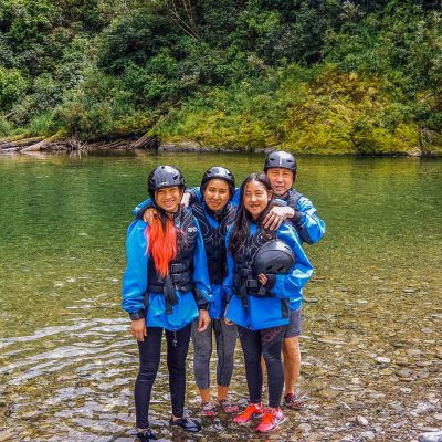 Kayak group in New Zealand