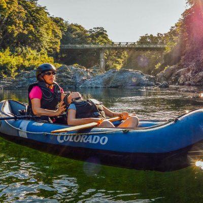 Mum and Daughter kayaking at the Pelorus river