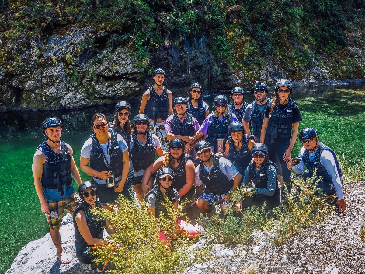 Big Group at the Pelorus river
