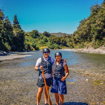 Couple at the Pelorus river, Havelock Marlborough