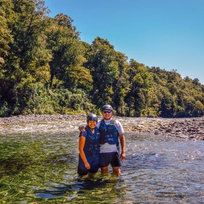 Couple at the Pelorus river, Marlborough