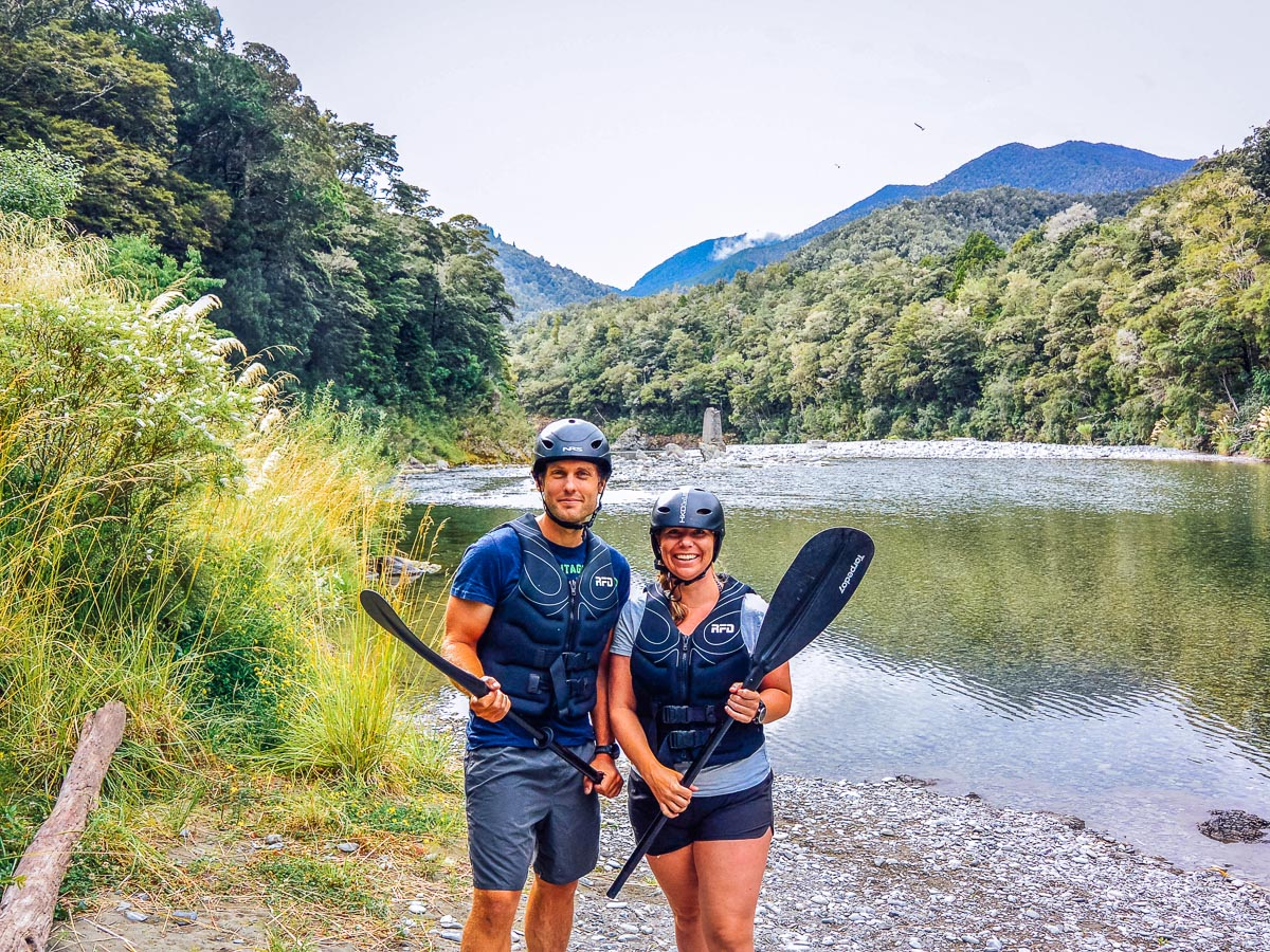 Couple at the Pelorus river