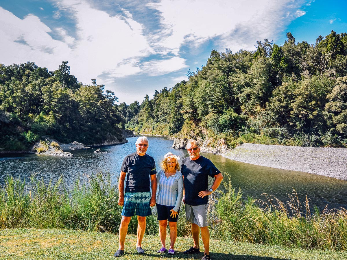 Guests at the Pelorus river