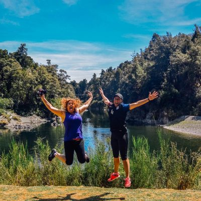 Happy friends at the Pelorus river, NZ