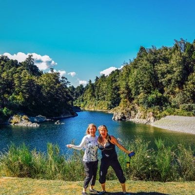 Happy ladies at the Pelorus river