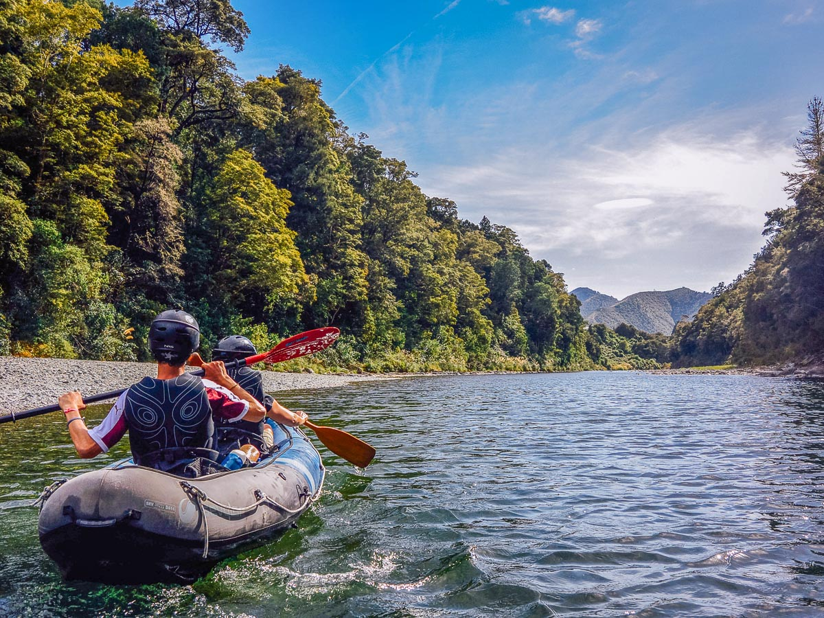 Kayaking the Pelorus river, New Zealand