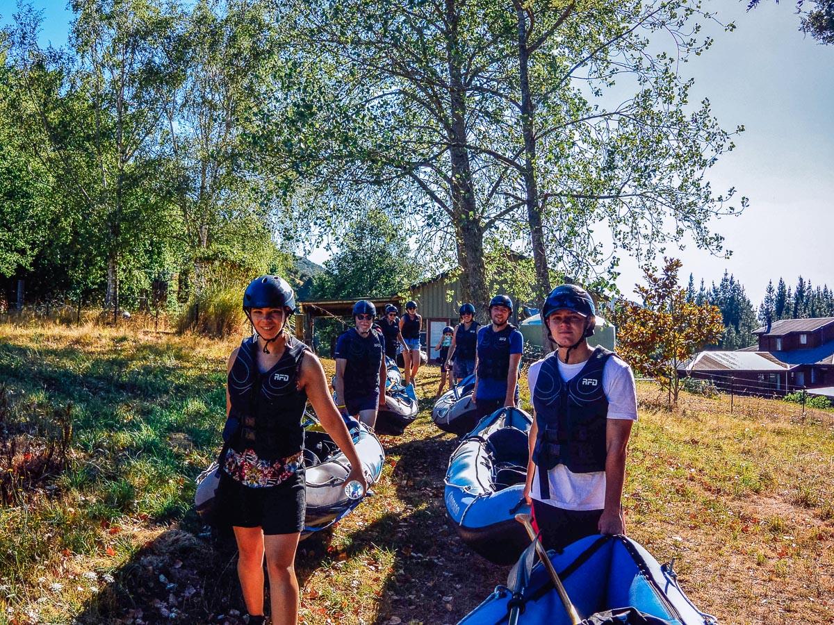 Group going to kayak the Pelorus river