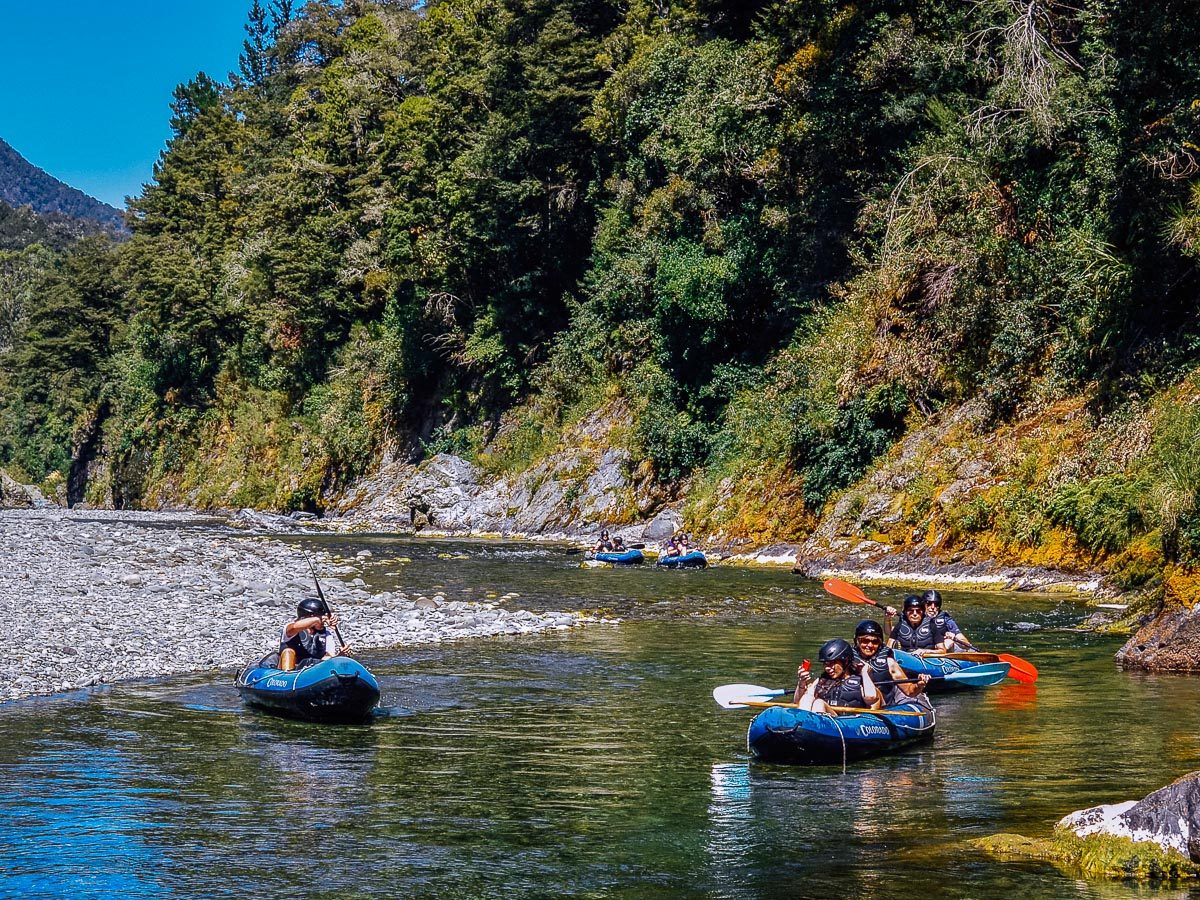 Kayak tour at the Pelorus river, Havelock