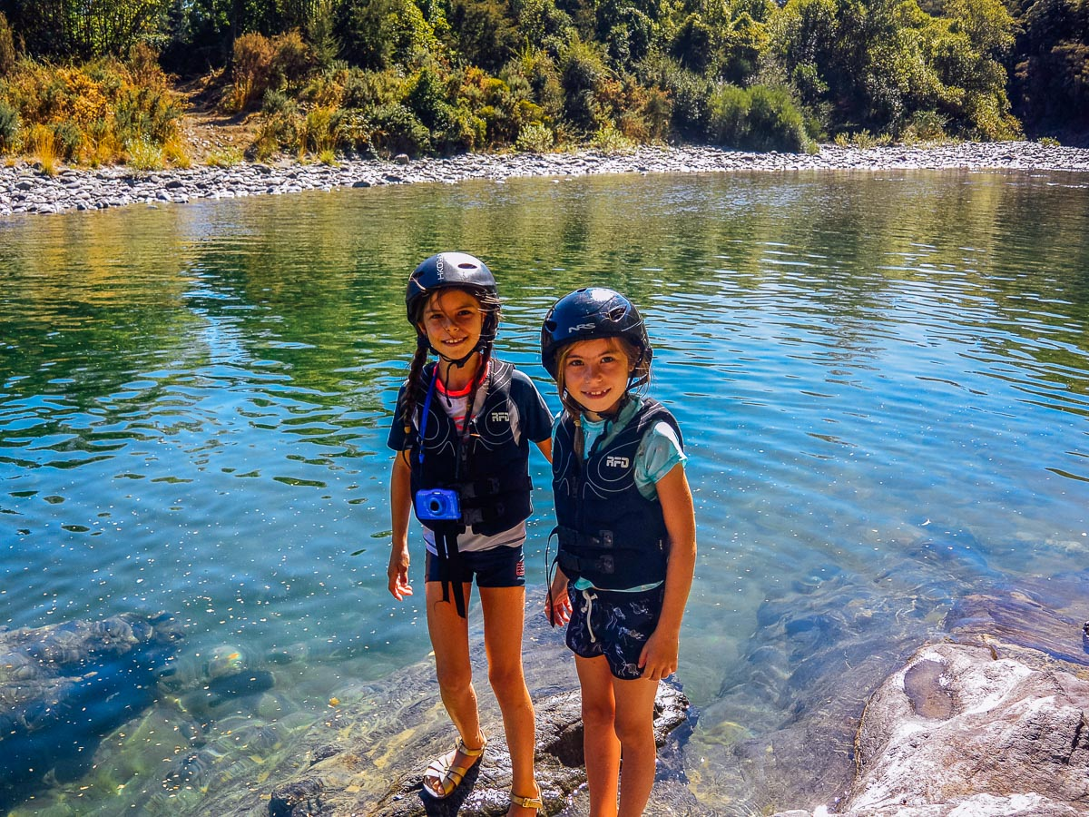 Kids at the Pelorus river, Havelock Marlborough